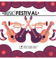 guitar and cornet instruments to music festival vector image vector image
