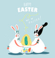 happy easter day card design vector image vector image