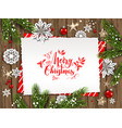 holiday card christmas vector image vector image
