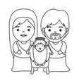 holy family christmas characters vector image vector image