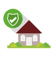 home security policy guard button shadow vector image