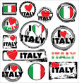 I love ITALY ink rubber stamp set vector image