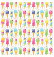 ice cream summer pattern seamless vector image vector image