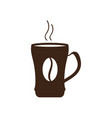 isolated coffee mug icon vector image vector image