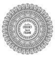 lacy crochet doily vector image vector image