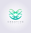 modern abstract leaves template design company vector image