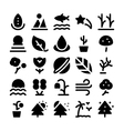 Nature Icons 2 vector image vector image
