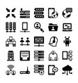 network and communication icons 10 vector image vector image