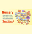 nursery concept banner cartoon style vector image vector image