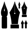old ink pen nibs vector image vector image
