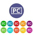PC flat icon vector image vector image