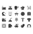 pool equipment black silhouette icons set vector image vector image