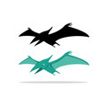 pterosaurs flying dinosaur on white art vector image vector image