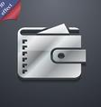 Purse icon symbol 3D style Trendy modern design vector image