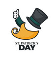 saint patrick day isolated icon leprechaun hat and vector image vector image