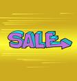 sale word pop art style vector image