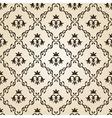 Seamless vintage wallpaper background floral beige vector image