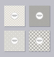 set of 4 creative covers abstract geometric vector image vector image