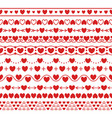set of simple modern brushes with hearts vector image