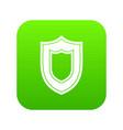shield icon digital green vector image vector image