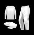 sportswear kit mockup templates vector image