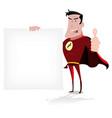 super hero message vector image vector image