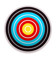 target icon cartoon style vector image vector image