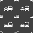taxi icon sign Seamless pattern on a gray vector image vector image