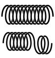 tension spring black symbols vector image vector image