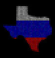 texas map in russia colors vector image