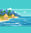 tropical island bungalows vacation travel vector image vector image