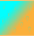 turquoise and orange gradient pattern ice cream vector image