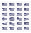 USA Flag set on a transparent background vector image vector image