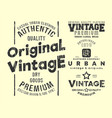 vintage t-shirt print stamp for t shirts applique vector image vector image