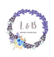 wreaths watercolor flowers hand painted with text vector image vector image