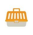 yellow carrier pet plastic care vector image