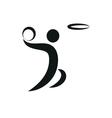 Basketball and ball Icon monochrome vector image