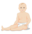 A child in a diaper vector image vector image