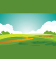 a serene landscape beautiful summer dawn green vector image