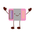 accordion musical instrument kawaii character vector image vector image