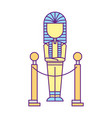 ancient pharaoh mummy exhibition museum vector image