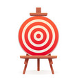 arch target icon cartoon style vector image vector image