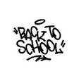 back to school on white background vector image