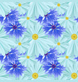 background with light blue daisies and blue lilac vector image vector image