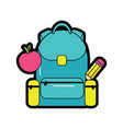 backpack with school supplies icon image vector image vector image