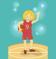 basketball girl vector image