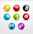 Bingo lottery balls set numbers background Lottery vector image vector image