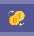 bitcoin digital gold exchange concept icon vector image
