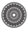 Black crochet doily vector image vector image