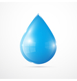 Blue Water Drop Isolated on White Background vector image vector image